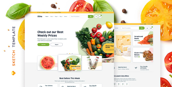 [Free Download] Disho – Grocery Store for Sketch (Nulled) [Latest Version]