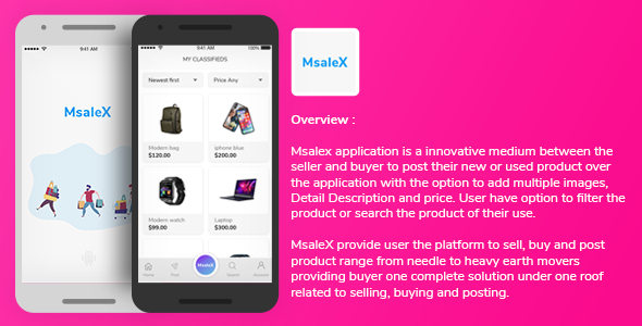 [Free Download] MsaleX Classified Full Application for Android with Backend (Nulled) [Latest Version]