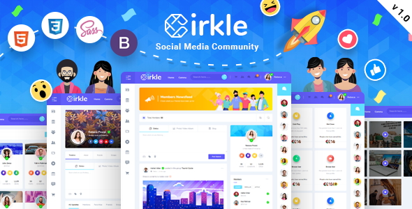 [Free Download] Cirkle – Social Networking HTML Template (Nulled) [Latest Version]
