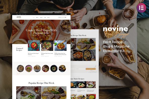 [Free Download] Novine – Food Recipe Blog & Magazine Template Kit (Nulled) [Latest Version]