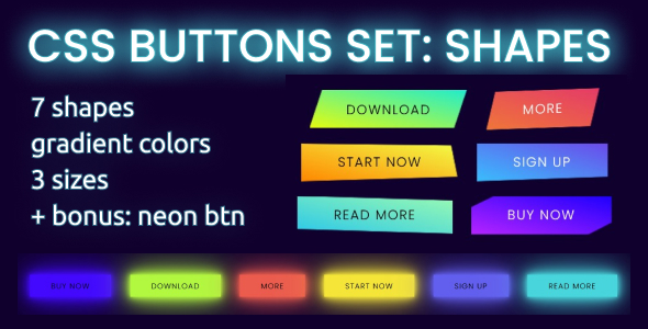 [Free Download] Creative Shapes – Buttons set (Nulled) [Latest Version]