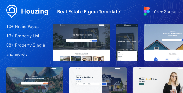 [Free Download] Houzing – Real Estate Figma Template (Nulled) [Latest Version]