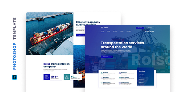 [Free Download] Rolso – Logistic Company Template for Photoshop (Nulled) [Latest Version]