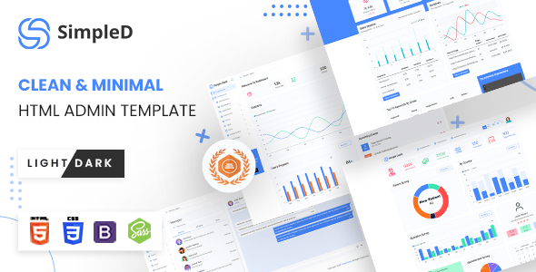 [Free Download] SimpleD | HTML Admin Template (Nulled) [Latest Version]