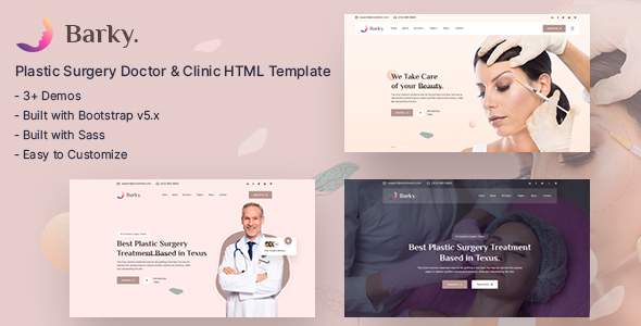 [Free Download] Barky – Cosmetic & Plastic Surgery HTML Template (Nulled) [Latest Version]