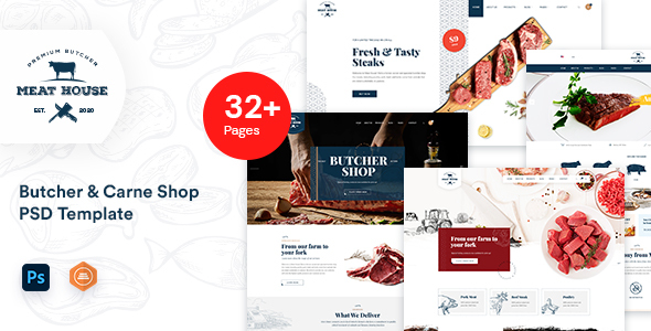 [Free Download] MeatHouse – Butcher & Carne Shop PSD template (Nulled) [Latest Version]