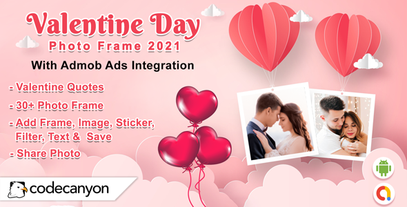 [Free Download] Android Valentine Photo Frame 2021 – Photo Editor (Nulled) [Latest Version]