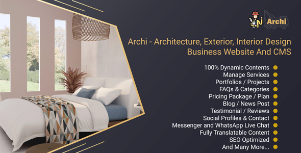 [Free Download] Archi – Architecture, Exterior, Interior Design Business Website And CMS (Nulled) [Latest Version]