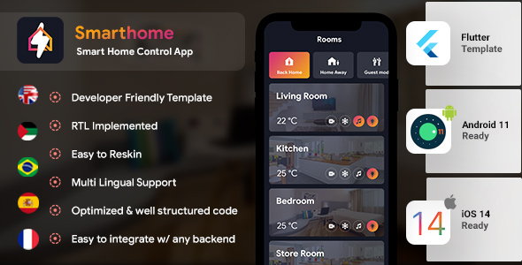 [Free Download] Smart Home Android App Template + iOS App Template | Home control app | Flutter (Nulled) [Latest Version]