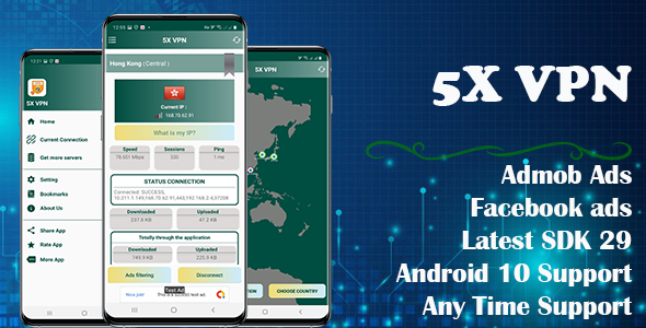 [Free Download] 5X VPN (Android 10 Supported) (Nulled) [Latest Version]