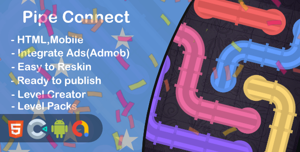 [Free Download] Pipe Connect(Html5 + Construct 3 +Mobile) (Nulled) [Latest Version]