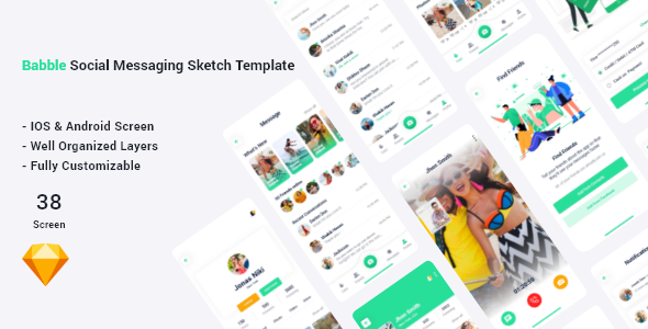 [Free Download] Bubble – Social Messaging Sketch Template (Nulled) [Latest Version]