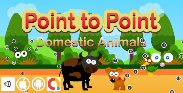 [Free Download] Edukida Point to Point Domestic Animals Unity Kids Educational Game For iOS and Android with Admob (Nulled) [Latest Version]