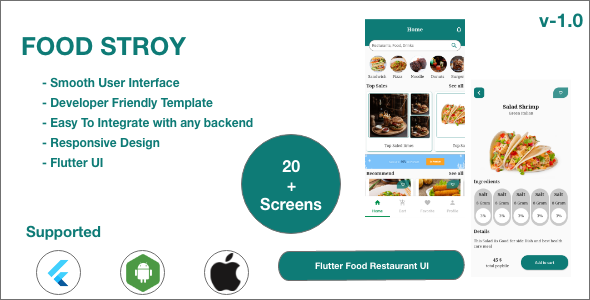 [Free Download] FoodStory – Restaurant | Food Ordering | Food App UI Kit in Flutter (Nulled) [Latest Version]