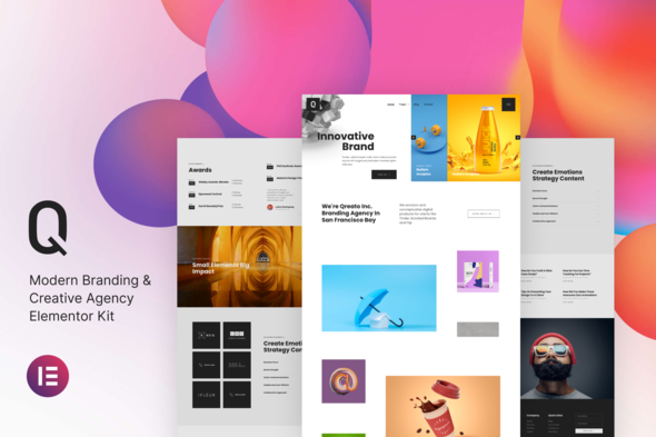 [Free Download] Qreato – Modern Branding & Creative Agency Elementor Kit (Nulled) [Latest Version]