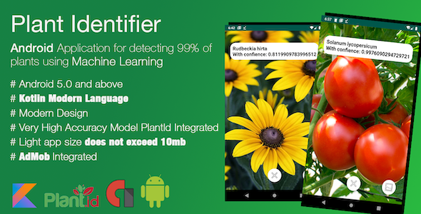 [Free Download] High Accuracy Plant Identifier- Android App That Uses Machine Learning Model To Identify All Plants (Nulled) [Latest Version]