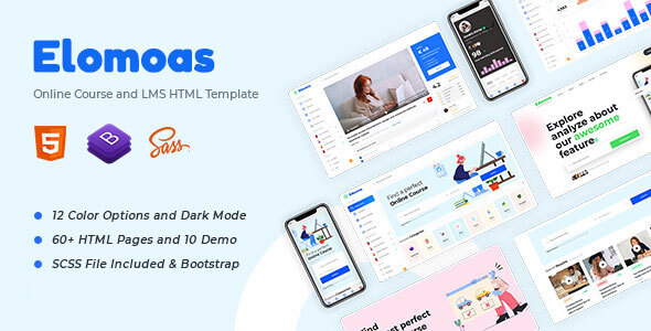 [Free Download] Elomoas – LMS & Online Courses Educational HTML Template (Nulled) [Latest Version]