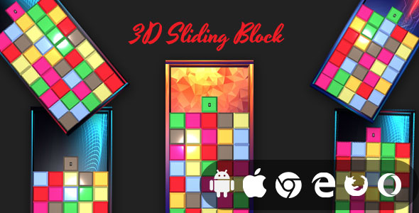[Free Download] 3D Sliding Block – Cross Platform 3D Casual Game (Nulled) [Latest Version]