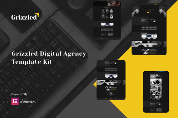 [Free Download] Grizzled – Digital Agency Dark Elementor Template Kit (Nulled) [Latest Version]