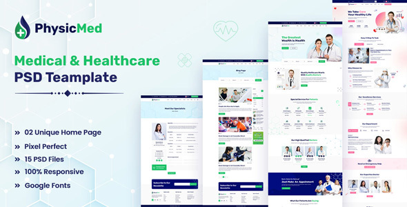[Free Download] Physicmed – Medical & healthcare PSD Template (Nulled) [Latest Version]