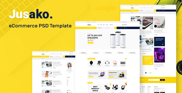 [Free Download] Jusako – Gadgets eCommerce PSD Template (Nulled) [Latest Version]