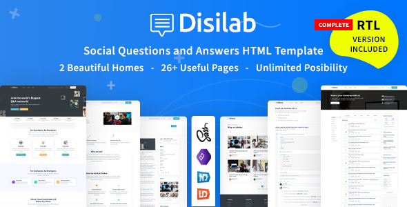 [Free Download] Disilab – Social Questions and Answers HTML5 Template (Nulled) [Latest Version]