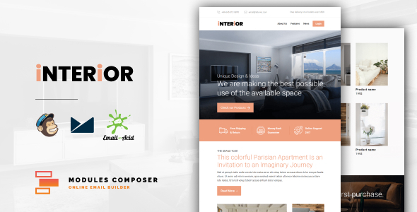 [Free Download] Interior – E-Commerce Responsive Furniture and Interior design Email with Online Builder (Nulled) [Latest Version]