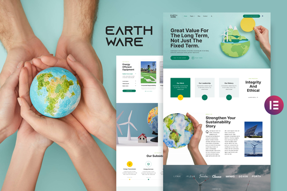 [Free Download] Earthware — Eco Green Renewable Energy Elementor Template Kit (Nulled) [Latest Version]
