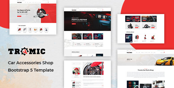 [Free Download] Tromic – Car Accessories Shop Bootstrap 5 Template (Nulled) [Latest Version]