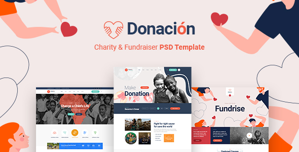 [Free Download] Donacion – Fundraising & Charity PSD Template (Nulled) [Latest Version]