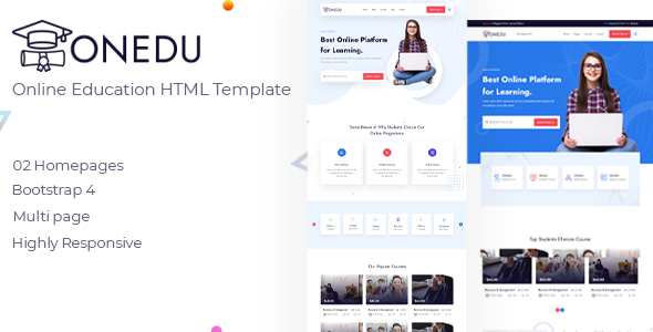 [Free Download] Onedu – Online Education HTML Template (Nulled) [Latest Version]
