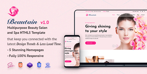[Free Download] Beautain | Multipurpose Beauty Salon and Spa HTML5 Template (Nulled) [Latest Version]