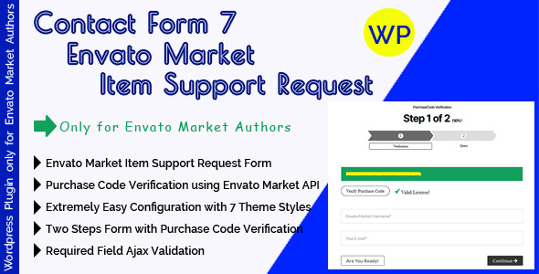 [Free Download] CF7 Envato Market Item Support Request – Contact Form 7 Support Form With Purchase Code Verification (Nulled) [Latest Version]