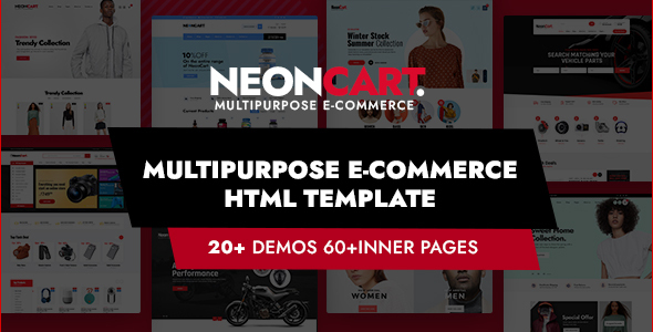 [Free Download] NeonCart – Multipurpose Ecommerce HTML Template (Nulled) [Latest Version]
