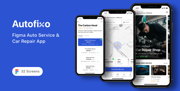 [Free Download] Autofixo – Figma Auto Service & Car Repair App (Nulled) [Latest Version]