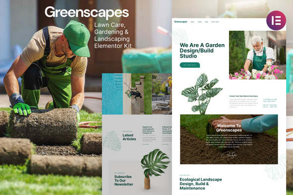 [Free Download] Greenscapes – Gardening & Landscaping Lawncare Elementor Template Kit (Nulled) [Latest Version]