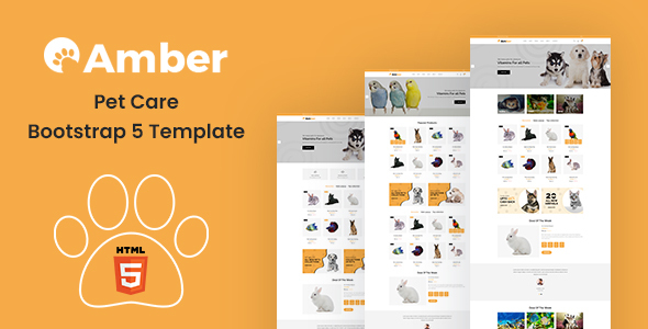 [Free Download] Amber – Pet Care Bootstrap 5 Template (Nulled) [Latest Version]