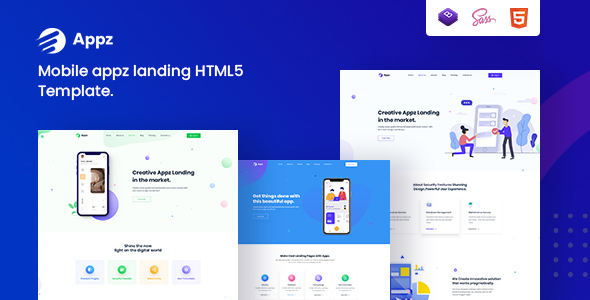 [Free Download] Appz – Landing Page HTML5 Template (Nulled) [Latest Version]