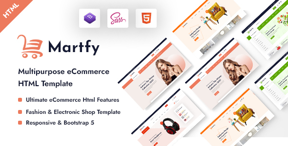 [Free Download] Martfy – Multipurpose eCommerce HTML Template (Nulled) [Latest Version]