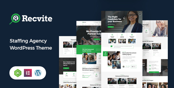 [Free Download] Recvite – Staffing Agency WordPress Theme (Nulled) [Latest Version]