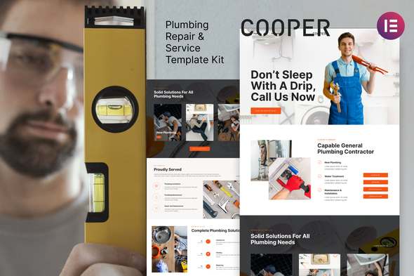 [Free Download] Cooper – Plumbing Repair Service & Maintenace Template Kit (Nulled) [Latest Version]