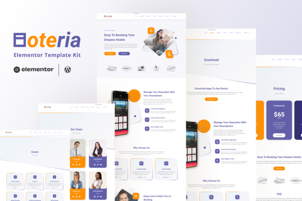 [Free Download] Hoteria – Hotel Service Elementor Template Kit  (Nulled) [Latest Version]