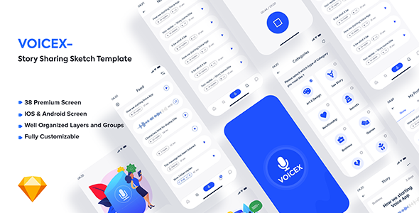 [Free Download] Voicex – Story Sharing Sketch Template (Nulled) [Latest Version]
