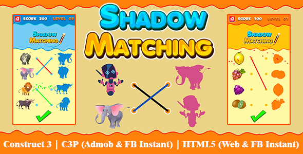 [Free Download] Shadow Matching Game Kids Learning Game with 50 Levels (Construct 3 | C3P | HTML5) Admob and FB Inst (Nulled) [Latest Version]