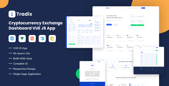 [Free Download] Tradix – Cryptocurrency Exchange Vuejs App (Nulled) [Latest Version]