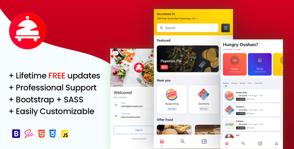 [Free Download] Zomoto – Food Order Directory, Restaurants, Fast Food, Bars Mobile Template (Nulled) [Latest Version]