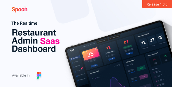[Free Download] Spoon | Restaurant SaaS Dashboard Figma Design Templates (Nulled) [Latest Version]