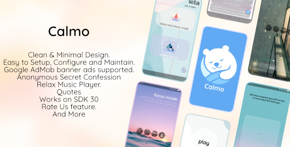 [Free Download] Calmo-Relax And Secret Confession – Full Native Android App (Nulled) [Latest Version]