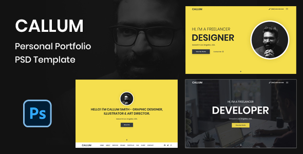 [Free Download] Callum – Personal Portfolio PSD Template (Nulled) [Latest Version]