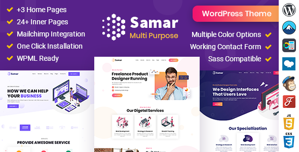 [Free Download] Samar | Creative Agency WordPress Theme (Nulled) [Latest Version]